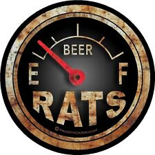 "1 - 2"" Hot Rod Rat Fuel Gauge Decal Sticker Gas Oil Beer Tank Rust Funny 717.2"