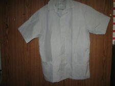 Lab Coat Gray Striped Overshirt UNIFORMS TO YOU Sz L NEW