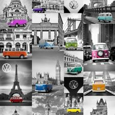 Wallpaper Muriva- VW City Campers - Officially Licensed Paper- Camper Van 102571