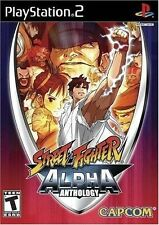 PS2 5 GAMES IN 1 STREET FIGHTER II ALPHA ANTHOLOGY NEW