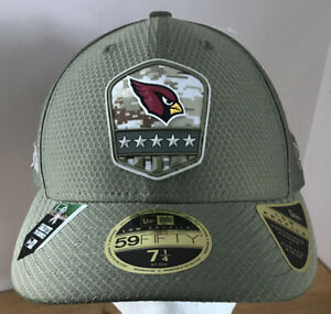 Arizona Cardinals Fitted Cap Hat New Era 59fifty 7 1/4 Salute to Service $41.99