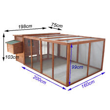 2.8m Long Large Chicken Coop Hen house Chook Hutch Run Cage With Run T001run