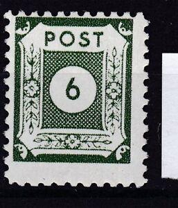 SBZ-Ostsachsen Nr. 43 D I a postfrisch, geprüft BPP Ströh  6 Pfg, 1945