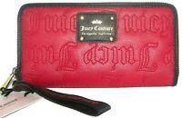 JUICY COUTURE Crimson Red Zip-Around Clutch Wallet Wristlet NWT