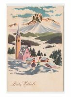 Greeting Cards Vintage Card Fp Nmm Chiesa by Mountain Christmas Valley Snowy