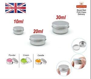 10ml - 30ml Empty Cosmetic Screw lid Pot Storage Tin Craft  Balm Jar Container