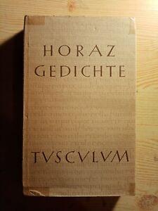 Heimeran-Verlag Tusculum-Bücherei Horaz Gedichte Gebunden Latein-Deutsch  325 S.