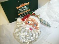 Noble Gems Santa Head Christmas Holiday Ornament , Kurt Adler Hand Crafted