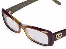 GUCCI Brown 52MM Rectangle Optical Glasses Frames 52 x 15 x 135 Made in Italy