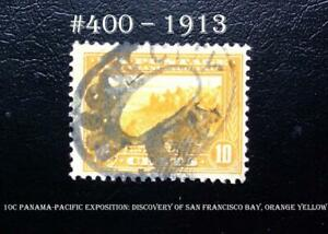 US  #400 – 1913 10c Panama-Pacific Exposition: Discovery of San Francisco Bay