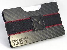 Carbono Fibre dinero Clip & titular de la tarjeta de crédito Billetera delgada Pequeño Compacto también RFID