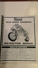Vintage RC Honda RC30 Superbike By Royal Instruction Manual