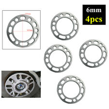 4x6MM Car Hub Wheel Spacer Adaptor Aluminum Shims Plate 5/6 Stud Brake Caliper