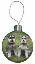 Schnauzer Dog /'Love You Dad/' Christmas Tree Bauble Decoration Gift DAD-96CB