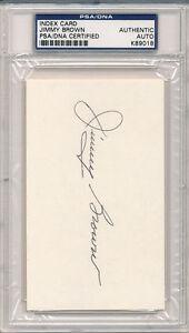 PSA/DNA SIGNED INDEX CARD   JIMMY BROWN   9018