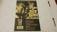 SLUGS JAZZ CLUB NYC 1968 ART BLAKEY & MESS SUN RA FLYER NMINT RARE CLEAN HTF VTG
