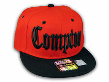 Compton Snapback Red Black Baseball Adjustable Hat Cap Flat Bill