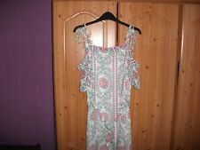 LADIES  SLEEVLESS  DRESS BY  GEORGE. FLORAL PATTERN SIZE  10 NEW WITH TAGS