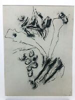 Bob Nugent Charcoal Sketch Drawing on Paper 1989 Abstract American (b. 1947)