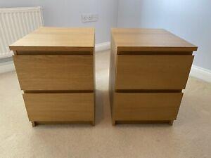 ikea malm bedside drawers