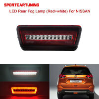 Red 3-In-1 LED Rear Fog Tail Brake Backup Light For Nissan X-Trail Rogue Murano