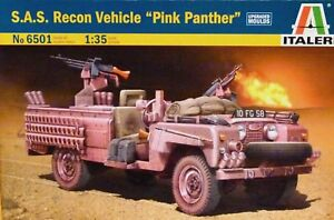 """Italeri 1:35 S.A.S. Recon Land Rover """"Pink Panther"""" Vehicle Model Kit"""