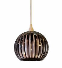 Kliving Lancia Smokey Acrylic Easy Fit Non Electric Pendant Ceiling Light Shade