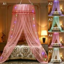 Lace Bed Canopy Mosquito Net Elegant Mesh Princess Round Dome Bedding Netting Us