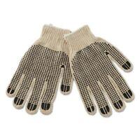 Boardwalk Men's PVC-Dotted String Knit Gloves, 12 pair (BWK792)
