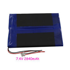 7.4V 2840 mAh Polymer rechargeable Li battery For DVD GPS ipod Tablet PC  407080