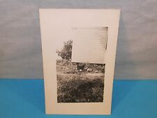 Antique CHICKEN & BABY CHICKS Real Photo Postcard RPPC House Barnyard Picture