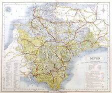 DEVON, 1884 - Original Antique County Map -  LETTS