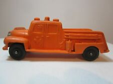 Auburn Rubber Toys '50s  Orange RESCUE TRUCK Made In The USA 5 Inches V.G. Cond.