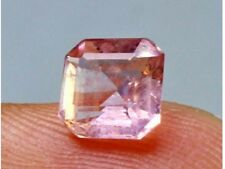 1.35ct Genuine Natural Rare Pink Morganite Gemstone, unheated 6x6x4mm