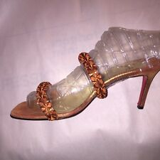 pre-loved authentic CHRISTIAN LOUBOUTIN size 37 Strappy Evening Sandals STILLETO