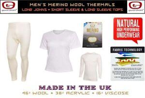 Guardian® Merino Wool Men's Thermal Underwear Long / Short Sleeve Top Long John