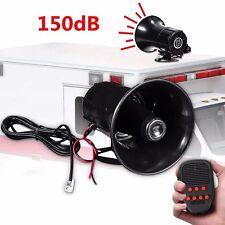12V 100W Super Loud Horn Car SUV Truck 7 Sound Tone Siren Horn PA Speaker System