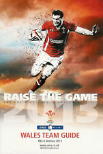 Wales 2013 RBS Six Nations Official Team RUGBY MEDIA GUIDE CHAMPIONSHIP SEASON
