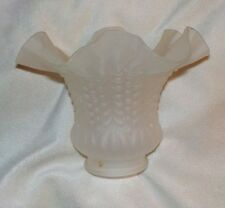 "Frosted Glass Ruffled Light Shade Chandelier Ceiling Fan Flared, 4 1/2"" high"