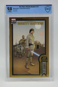 Star Wars Bounty Hunters (2020) #13 Lucasfilm 50th CBCS 9.8 Blue Label White Pgs