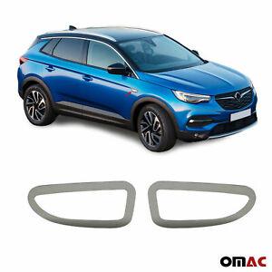 For Opel Grandland X 2017-2021 Dark Chrome Side Indicator Light Frame Trim Steel
