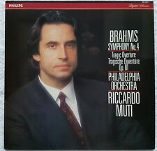 422 337-1 BRAHMS SYMPHONY NO.4 MUTI PHILADELPHIA PHILIPS DIGITAL LP NM 1989