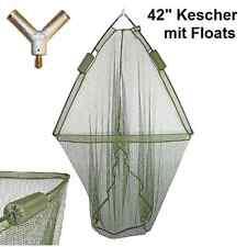 """Karpfenkescher 42"""" mit Floats 107cm Öffnung weiches grünes Netz"""