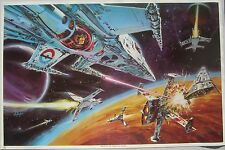 Star Wars Trek Sci Fi Alien Fantasy Type Poster 1978 Battle of the Galaxies