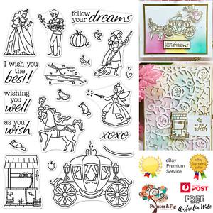 Hero Arts As You Wish Stamps - Fairytale, Cinderella, Princess, Fairy Godmother