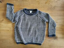 Beautiful Soft ✨ Navy Blue COS Kids Boys Cotton Knit Jumper Sweater Size 5 - 6