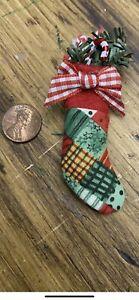 Dollhouse Miniature Christmas Stocking