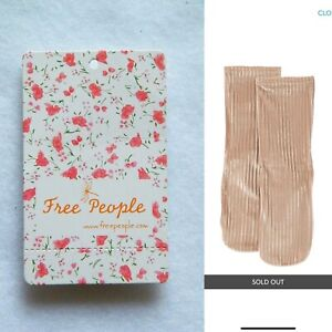 Free People Trixie Velvet Ivory Socks ACCFP85 NWT! One Size *Sold Out!*