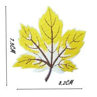 Leaf Autumn Maple Iron On Patch 8cm x 7cm Badge Patches Embroidered Badges P525