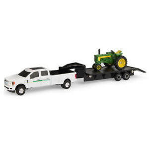 John Deere 1/64 530 with F350 and Trailer Set #LP68816